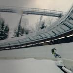 Ledová dráha na kole