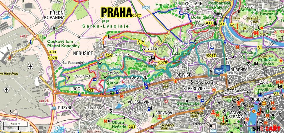 BnR trail - Divoká Šárka