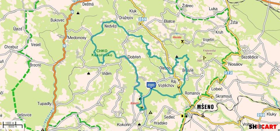 Kokorin-stred-BnR-Pocesku-mapa