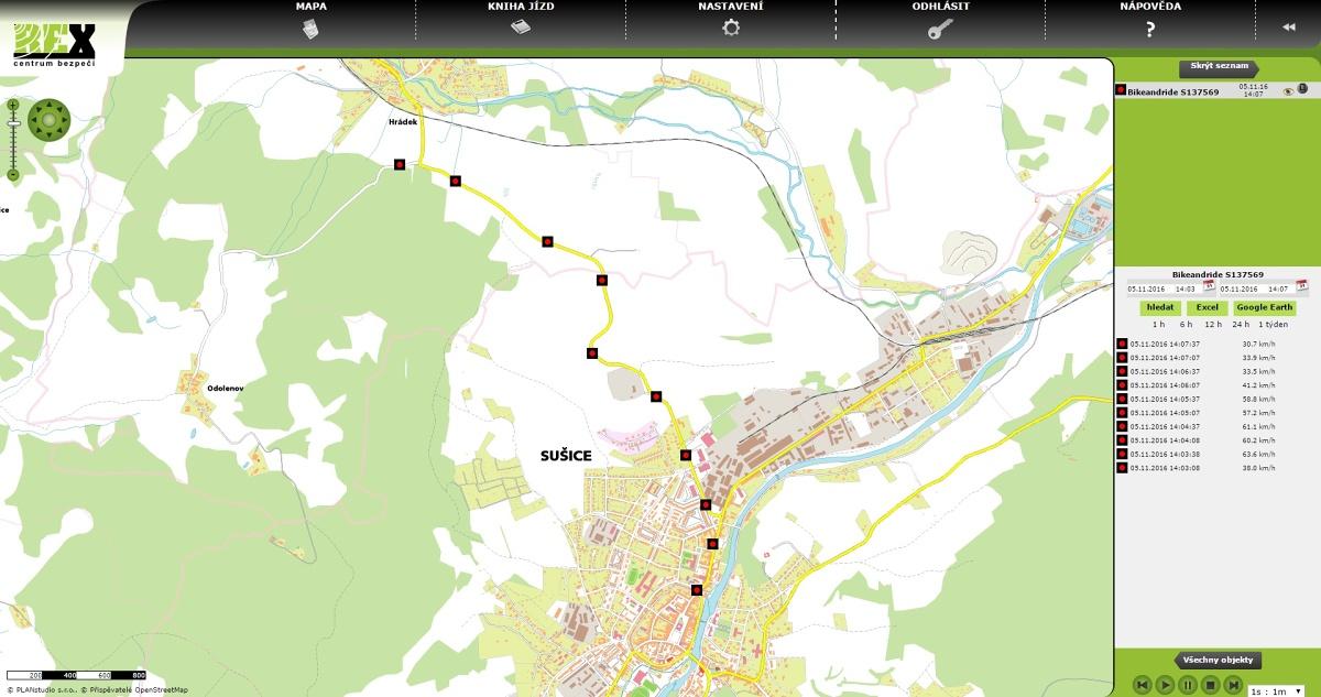 REXbike - GPS zabezpeceni