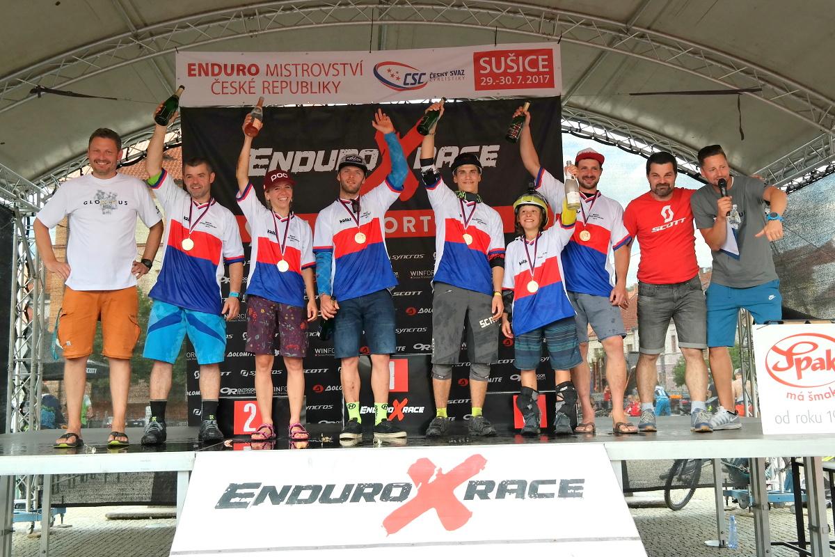 Enduro X Race 2017 - Stupně vítězů